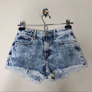 Pacsun High Rise Festival Bleached Cut Off Shorts